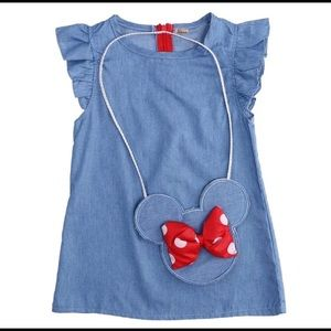 Other - Minnie Mouse Dress with matching Purse 4 4T
